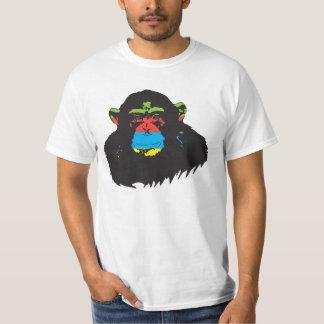 Chimpanzé d'arc-en-ciel t-shirt