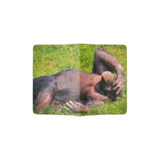 Chimpanzé drôle protège-passeport