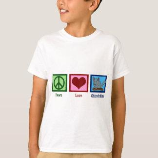 Chinchillas d'amour de paix t-shirt