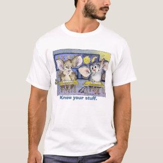 Chinchillas dans le T-shirt de bande dessinée