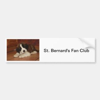 Chiot adorable et doux de St Bernard Autocollant De Voiture