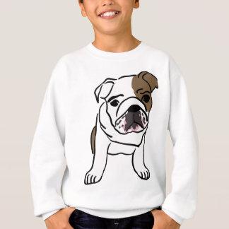 Chiot anglais personnalisé de bouledogue sweatshirt