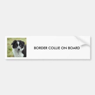 Chiot de border collie, ADHÉSIF POUR PARE-CHOCS Autocollant De Voiture