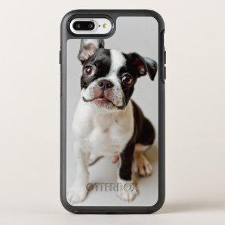 Chiot de chien de Boston Terrier Coque Otterbox Symmetry Pour iPhone 7 Plus