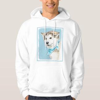 Chiot de chien de traîneau sibérien veste à capuche