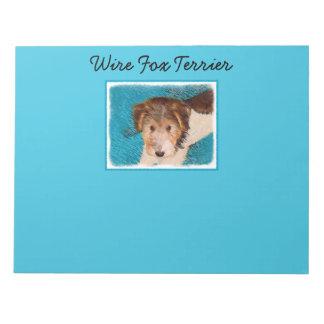 Chiot de Fox Terrier de fil Bloc-note