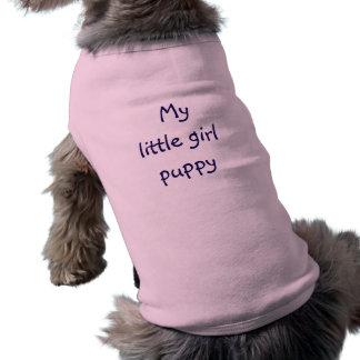 chiot de petite fille de chemise de chien t-shirt pour chien