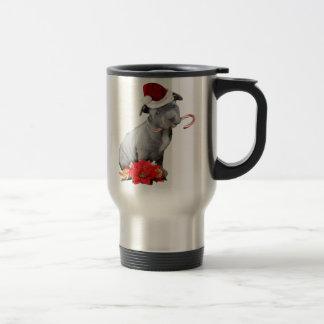 Chiot de pitbull de Noël Mug De Voyage
