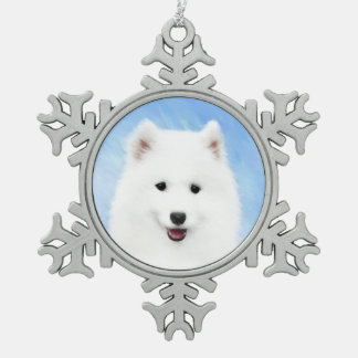 Chiot de Samoyed Ornement Flocon De Neige