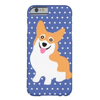 Chiot de sourire mignon de corgi de Gallois de Coque iPhone 6 Barely There