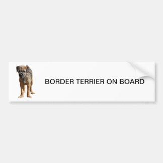 Chiot de Terrier de frontière mignon, ADHÉSIF POUR Autocollant Pour Voiture
