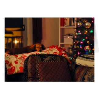 Chiot de vacances de sommeil carte de vœux