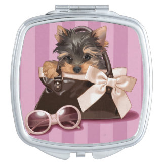 Chiot de Yorkshire Terrier Miroirs De Poche
