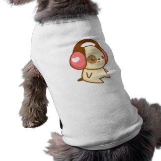 Chiot d'écouteur t-shirt pour chien