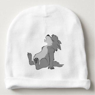 Chiot gris de loup-garou d'hurlement bonnet de bébé