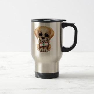 Chiot mignon avec l'étiquette de chien libanaise mug de voyage