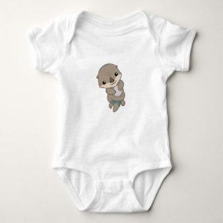Chiot mignon de loutre de bébé body