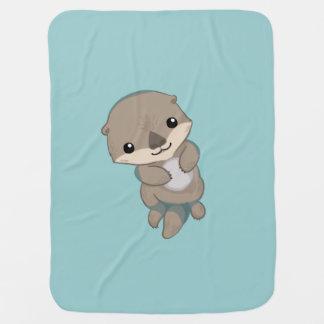 Chiot mignon de loutre de bébé couvertures pour bébé