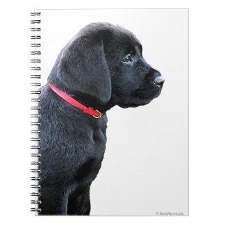 Chiot noir de Labrador Carnet
