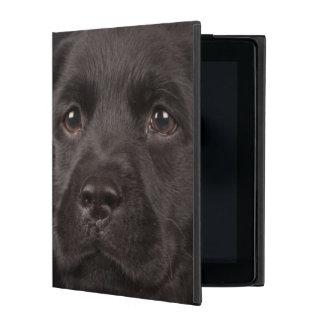 Chiot noir de labrador retriever dans un panier coque iPad