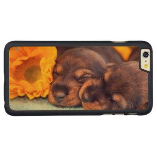 Chiots adorables de sommeil Doxen Coque En Érable iPhone 6 Plus