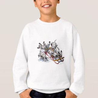 Chiots dalmatiens Sledding Sweatshirt