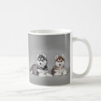 Chiots de chien de traîneau sibérien mug