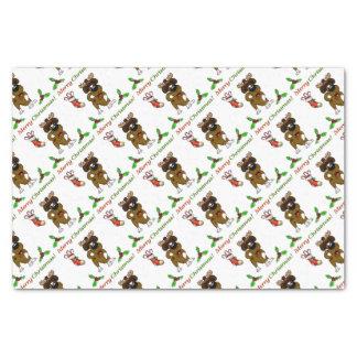 Chiots de Noël Papier Mousseline