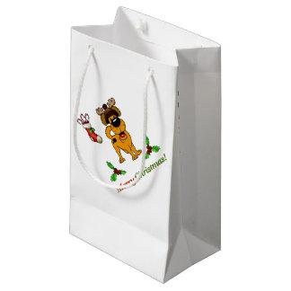 Chiots de Noël Petit Sac Cadeau