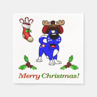 Chiots de Noël Serviette En Papier