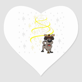 Chiots de Noël Sticker Cœur