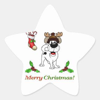 Chiots de Noël Sticker Étoile