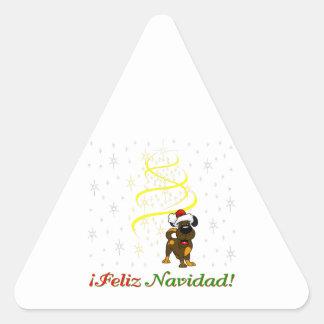 Chiots de Noël Sticker Triangulaire