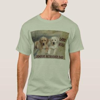 Chiots de T-shirt de papa de labrador retriever