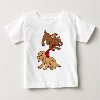 Chiots espiègles t-shirt pour bébé