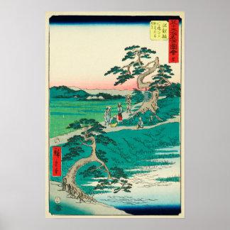 Chiryuu, Japon : Copie vintage de bois de graveur Posters