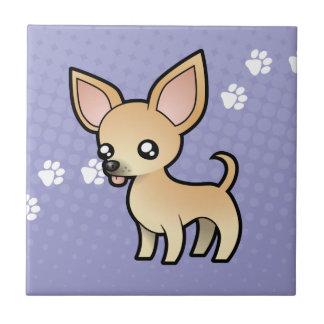 Chiwawa de bande dessinée (manteau lisse) petit carreau carré