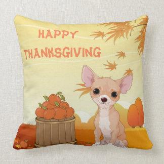 Chiwawa de Tan de bon thanksgiving Coussin