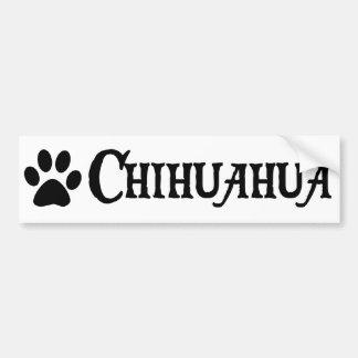 Chiwawa style de pirate avec le pawprint autocollants pour voiture