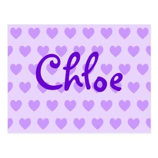 Chloe dans le pourpre carte postale