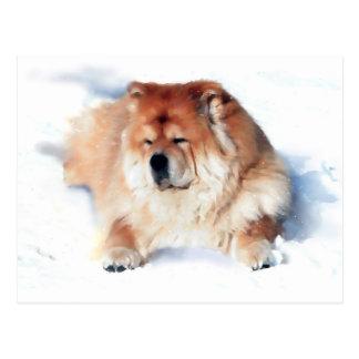 CHLOE S'ÉTENDANT DANS la carte postale de heARTdog