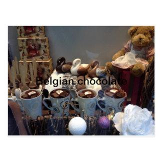 Chocolat belge carte postale