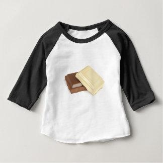Chocolat blanc et brun t-shirt pour bébé