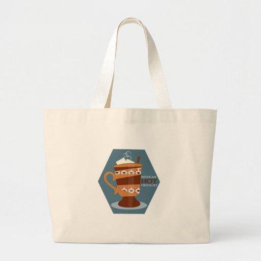 Chocolat chaud mexicain sacs fourre-tout
