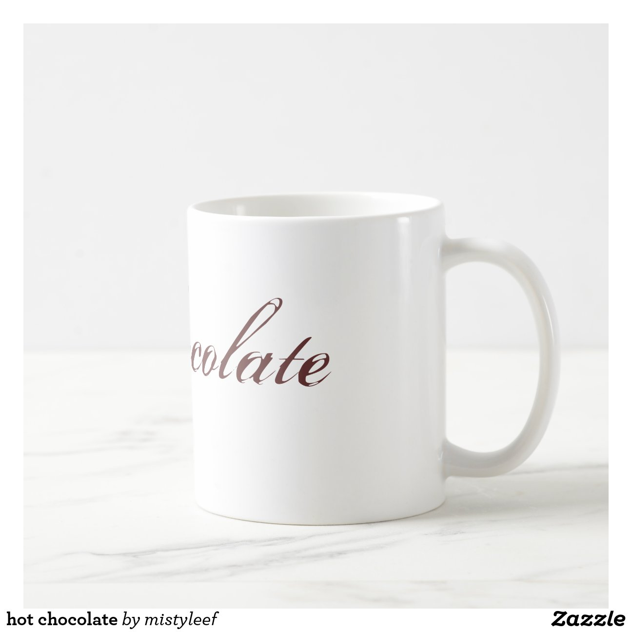 chocolat chaud mug blanc zazzle. Black Bedroom Furniture Sets. Home Design Ideas