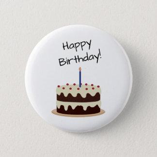 Chocolat de joyeux anniversaire et gâteau de badges