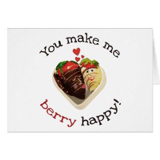 Chocolat et fraises épousant la carte de