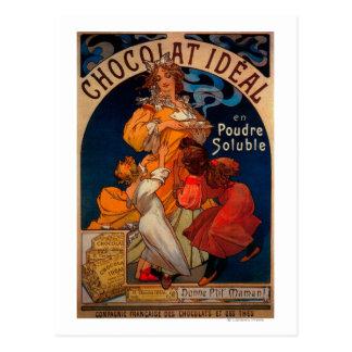 Chocolat PosterEurope vintage idéal Carte Postale
