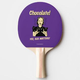 Chocolat : Sujets de taille Raquette Tennis De Table