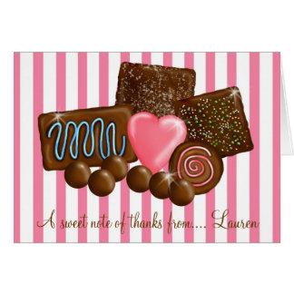 ChocolatesThank doux vous cartes de note